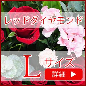万人に人気の赤いバラをメインにしたアレンジメント