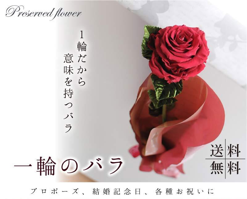 1輪だから意味を持つバラ。一輪のバラ。プロポーズ、結婚記念日、各種お祝いに。