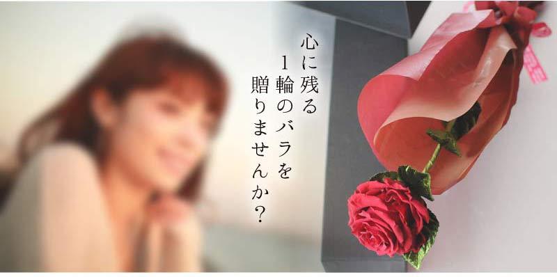 心に残る1輪のバラを贈りませんか?
