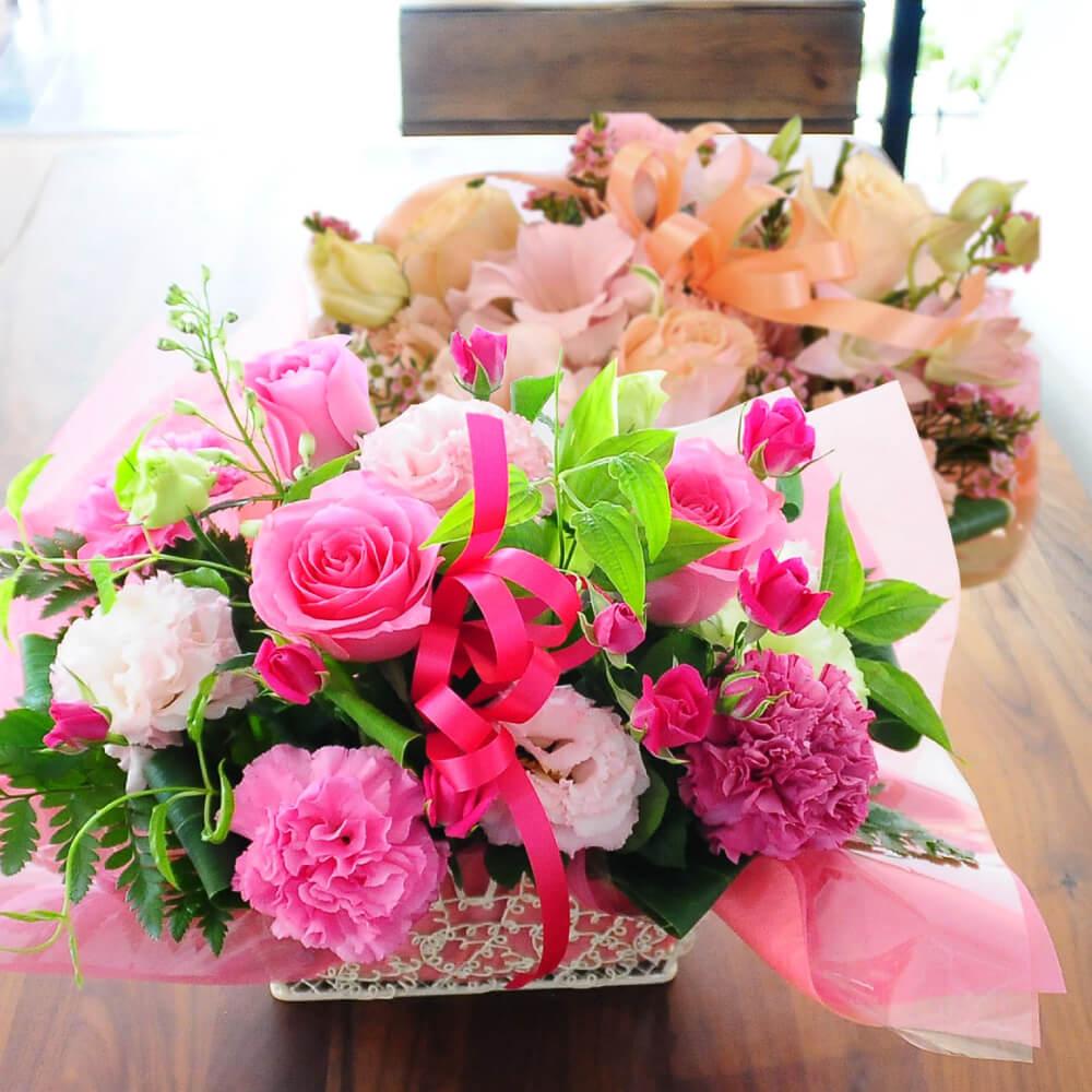 憧れの人に贈る生花アレンジメント