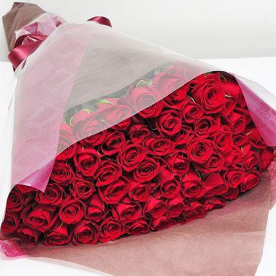 Edelweiss/エーデルワイス 赤いバラ60本の花束