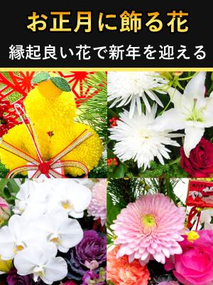 お正月花 迎春2021