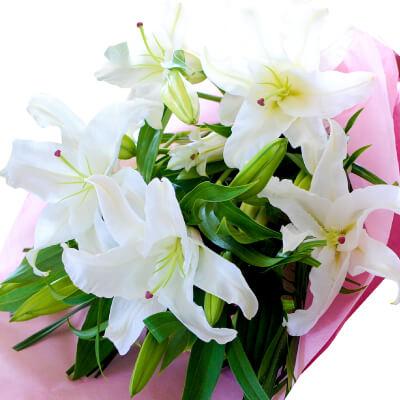 白百合15輪の花束